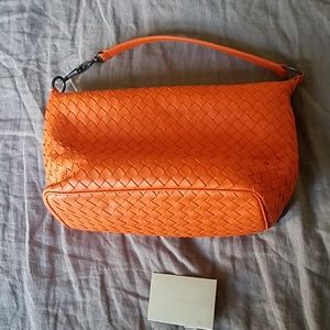 Bottega veneta orange small shoulder bag